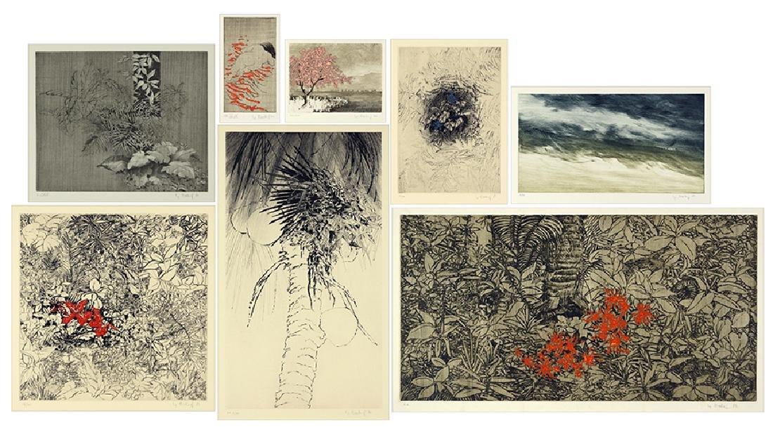 Yannick Ballif (French, 1927-2009) Seven Color