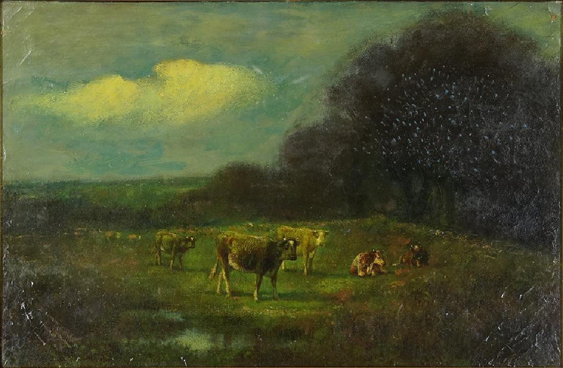 James McDougal Hart (American, 1828-1901) Bucolic
