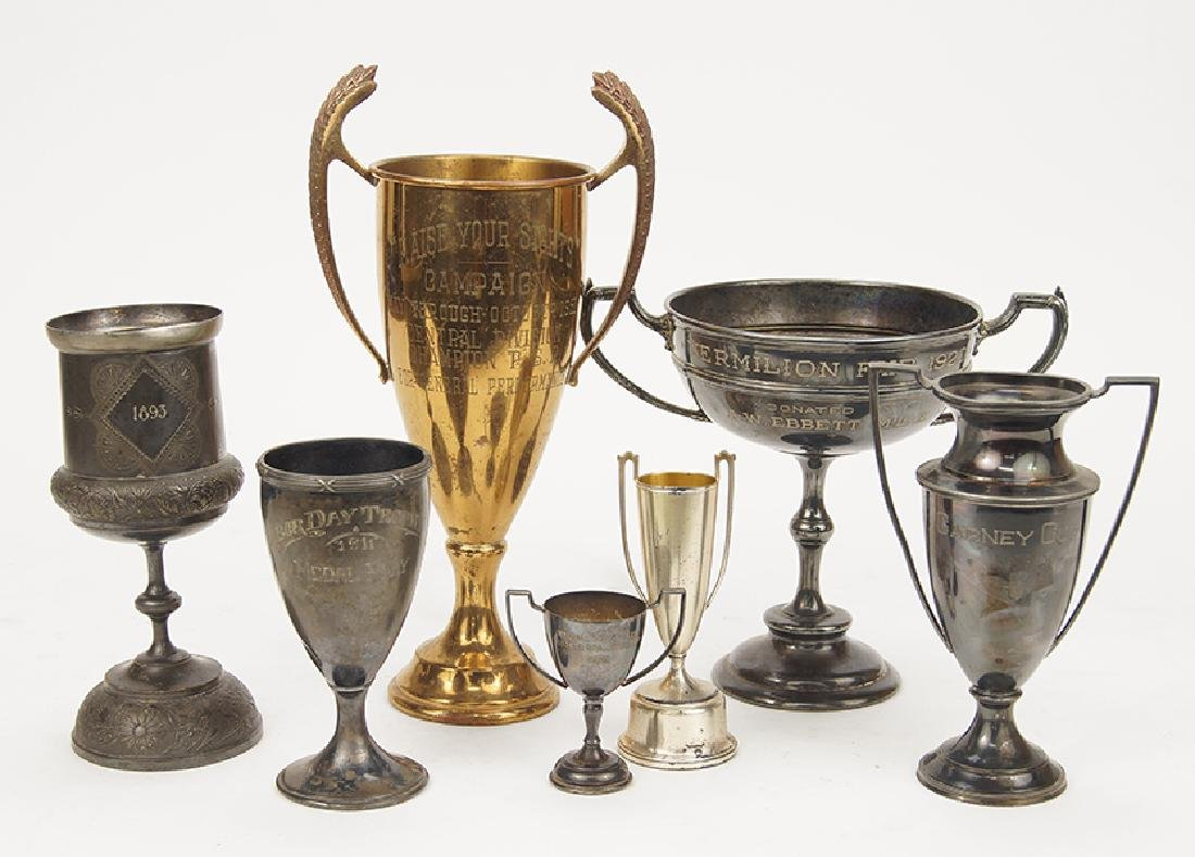 A Collection Of Trophies.