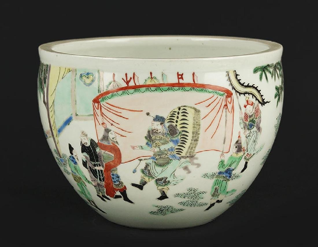 A Chinese Famille Verte Porcelain Pot.