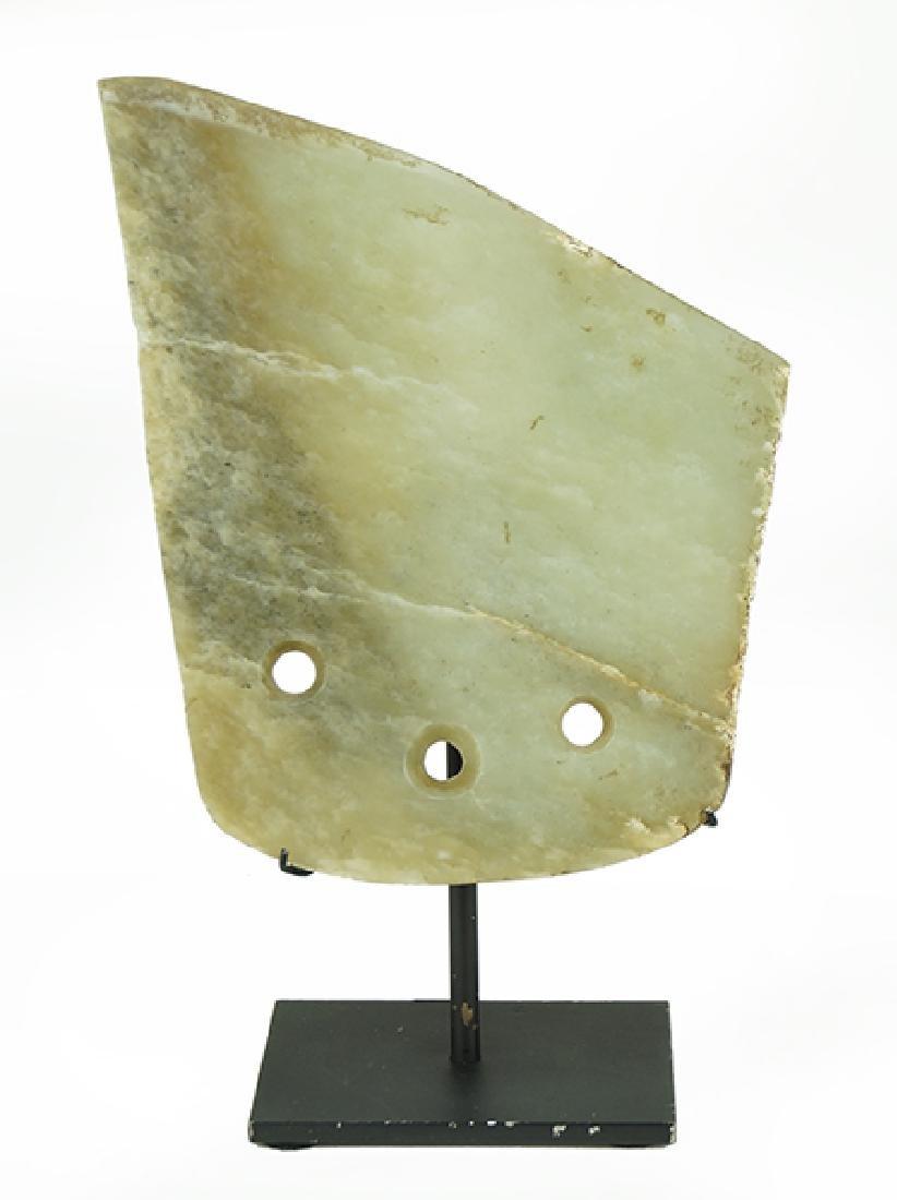 A Chinese Jade Axe Head.