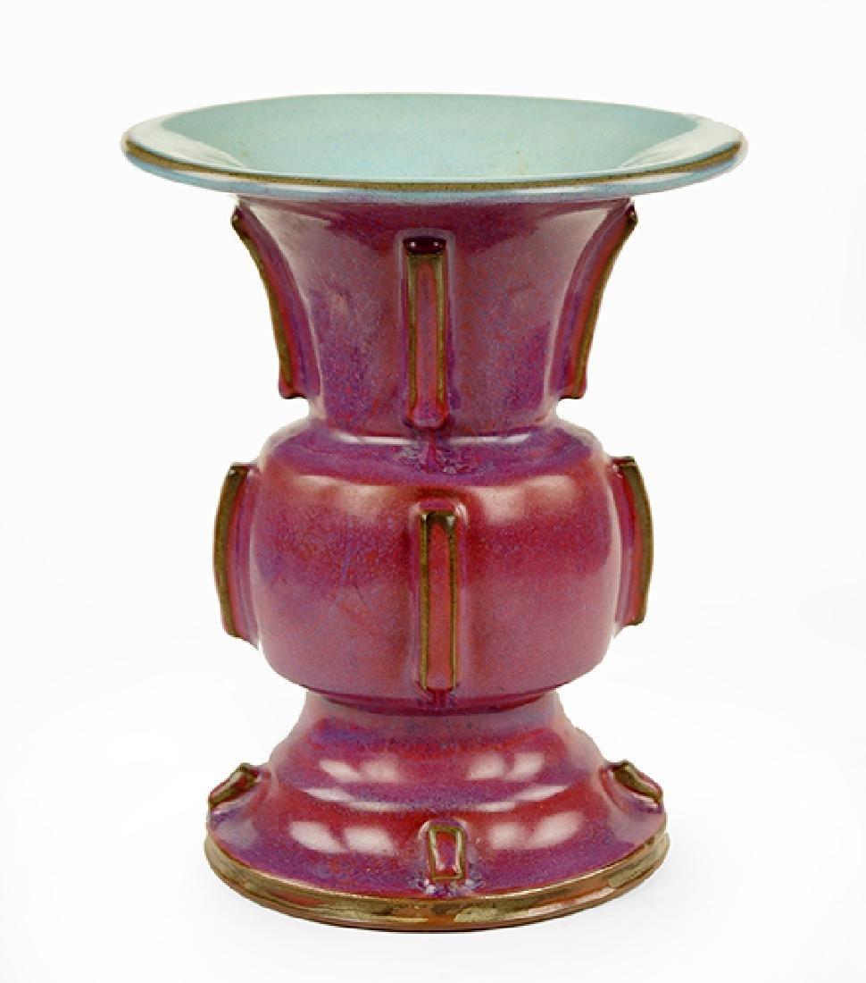 A Chinese Jun Ware Gu / Zun Form Vase.