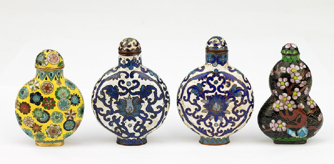 A Group of Cloisonne Snuff Bottles.