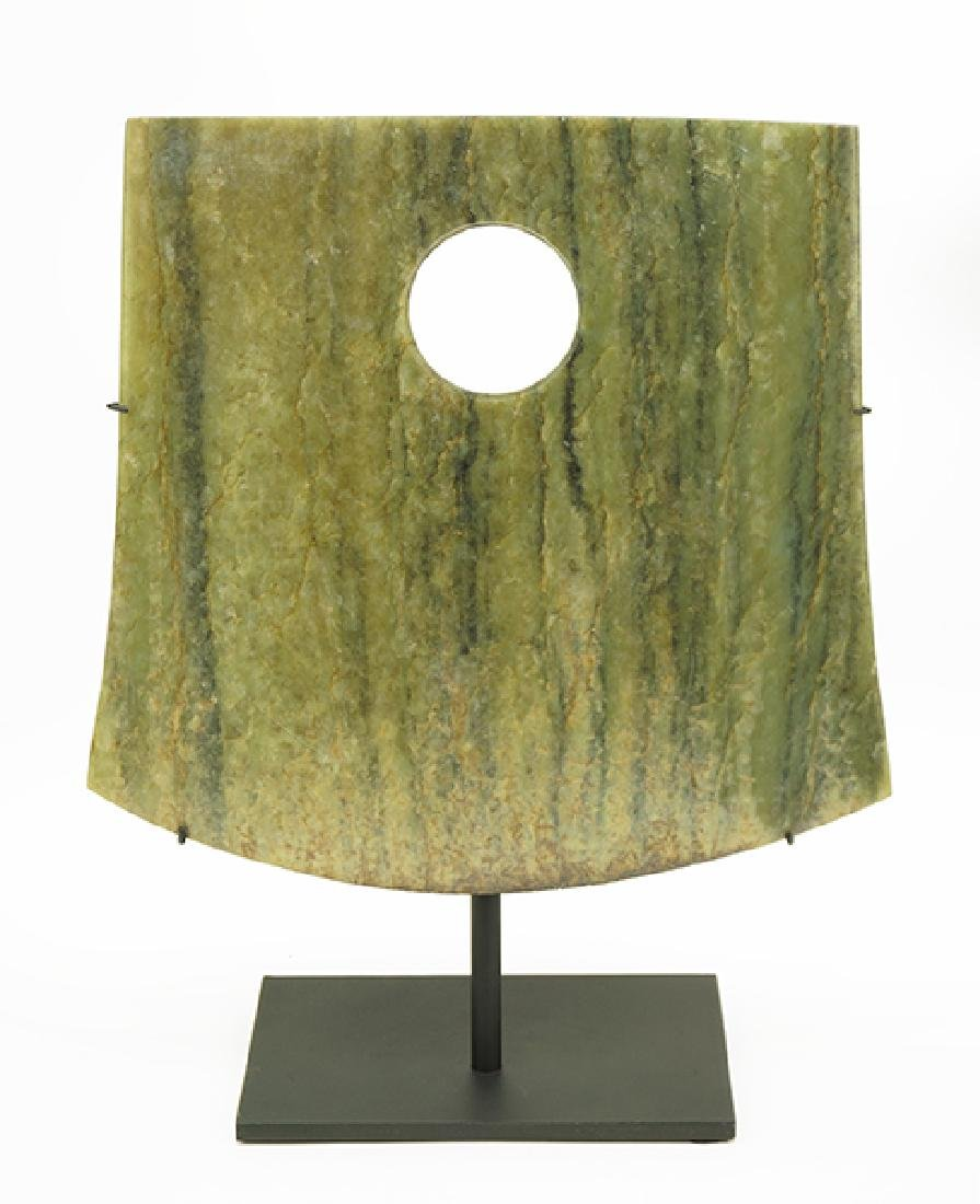 A Chinese Jade Yue Axe Head.