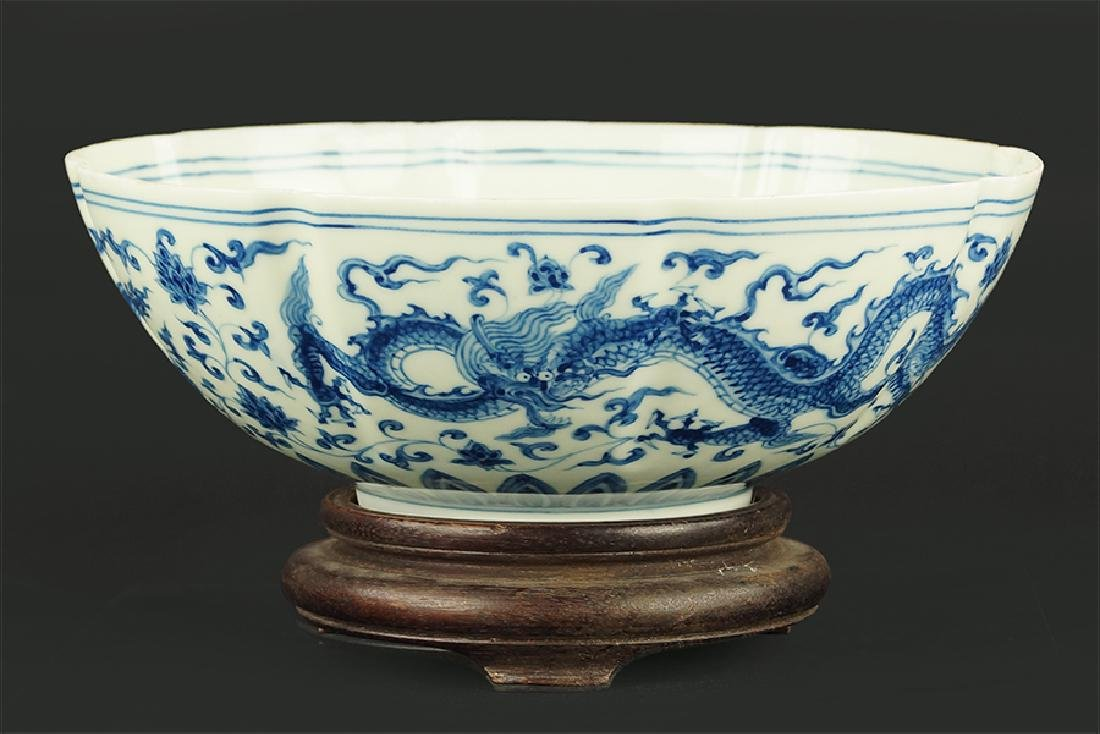 A Chinese Blue and White Eggshell Porcelain Bowl.