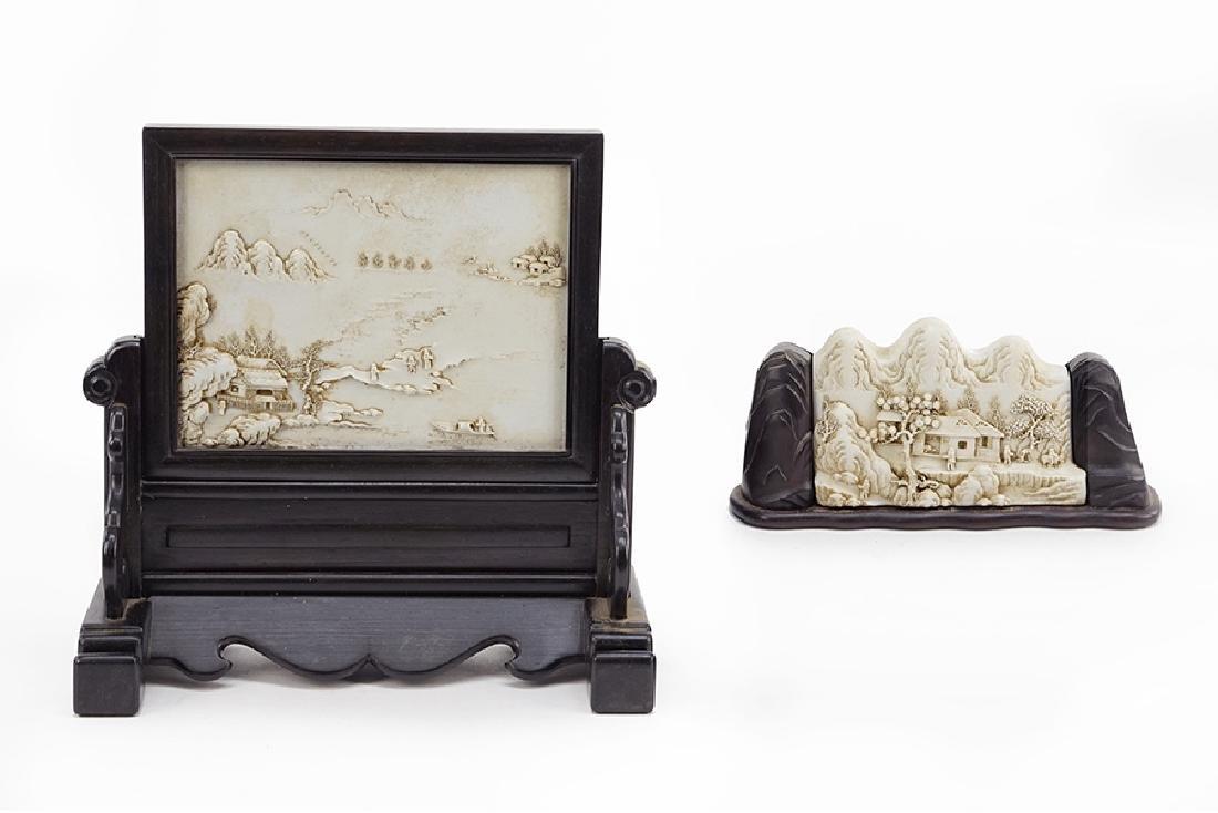 Wang Bing Rong (Chinese, 19th Century) Two Porcelain