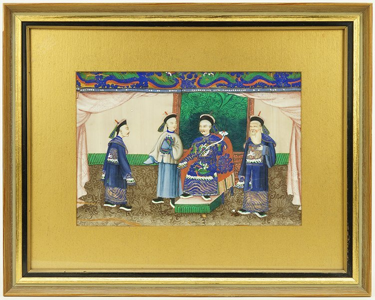 A 19th Century Chinese Painting on Rice Paper. - 2