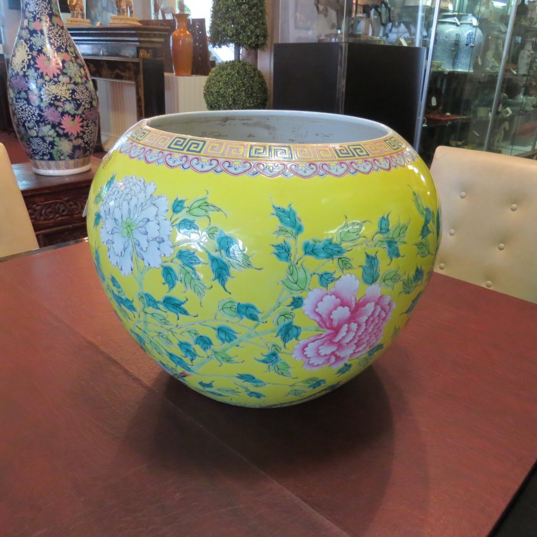 A Chinese Famille Jaune Fish Bowl. - 4