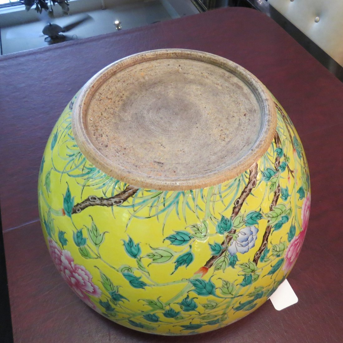 A Chinese Famille Jaune Fish Bowl. - 6