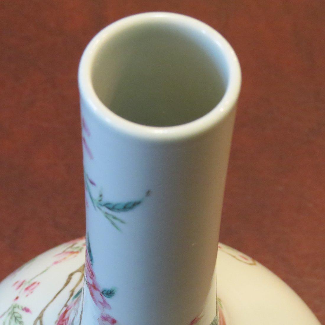 A Chinese Famille Rose Porcelain Bottle Vase. - 6
