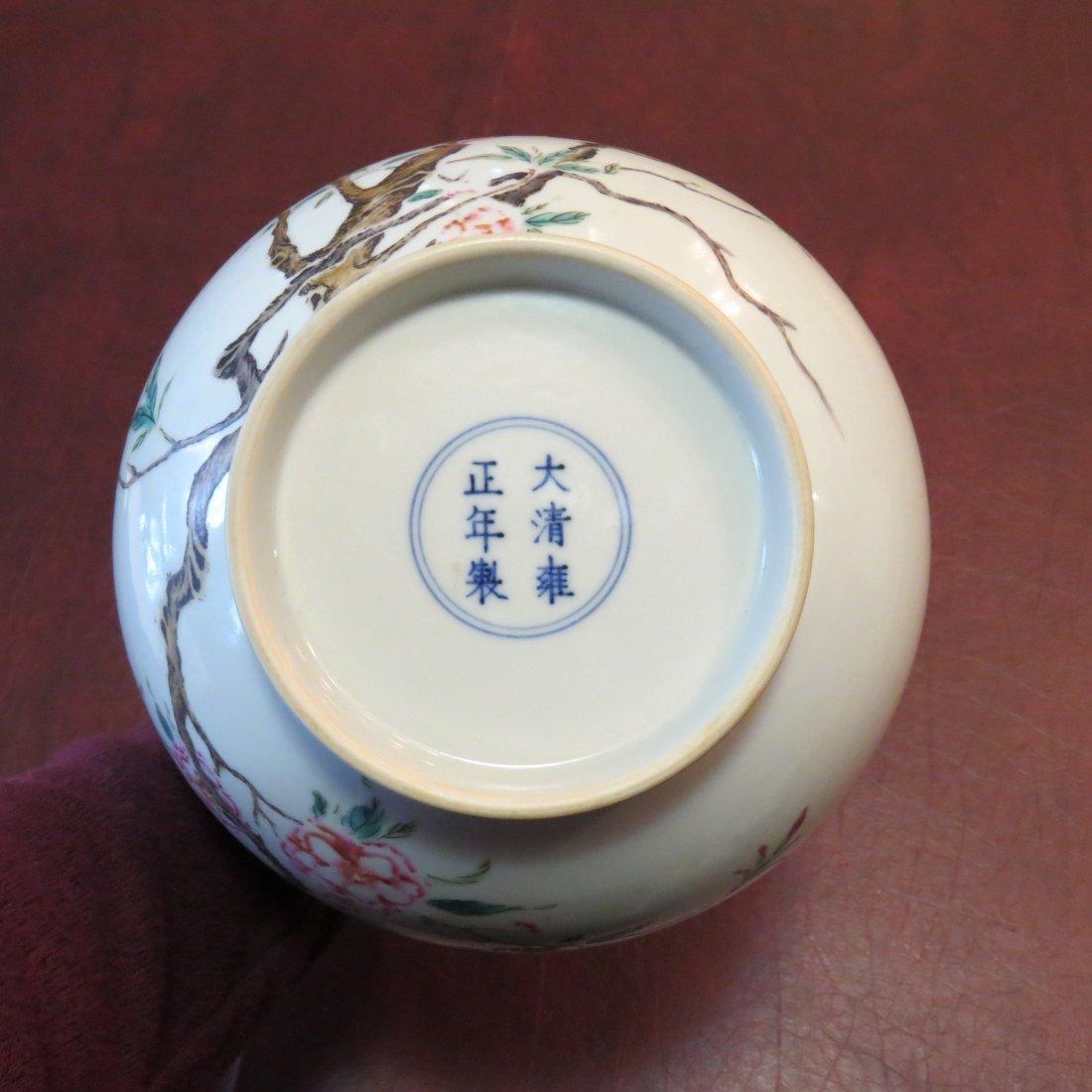 A Chinese Famille Rose Porcelain Bottle Vase. - 8