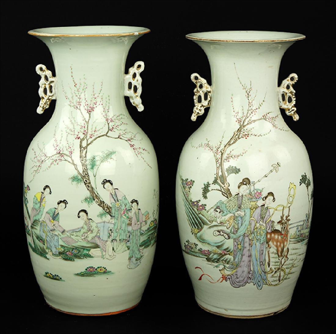 Two Chinese Famille Rose Vases.