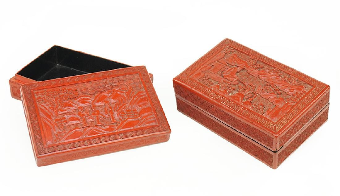Two Cinnabar Boxes.