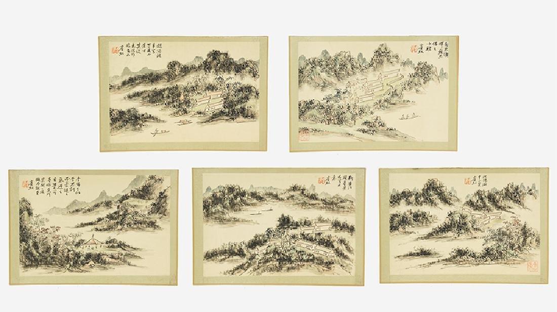 Attributed to Huang Binhong (Chinese, 1865-1955) Five