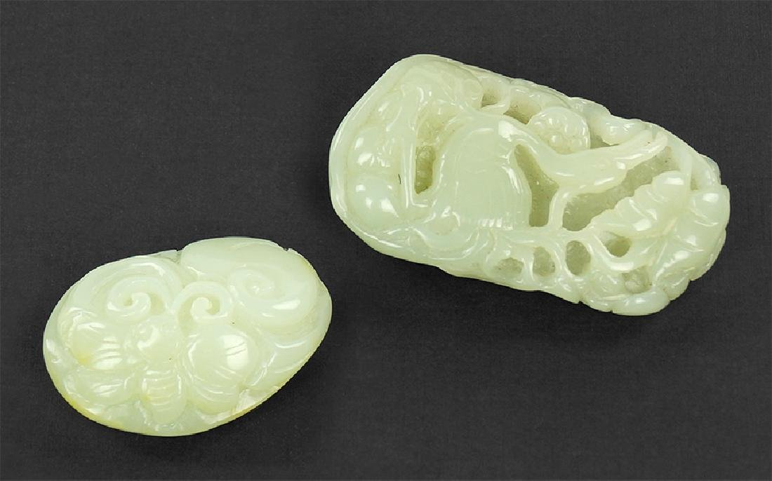 Two Chinese Carved Jade Items.