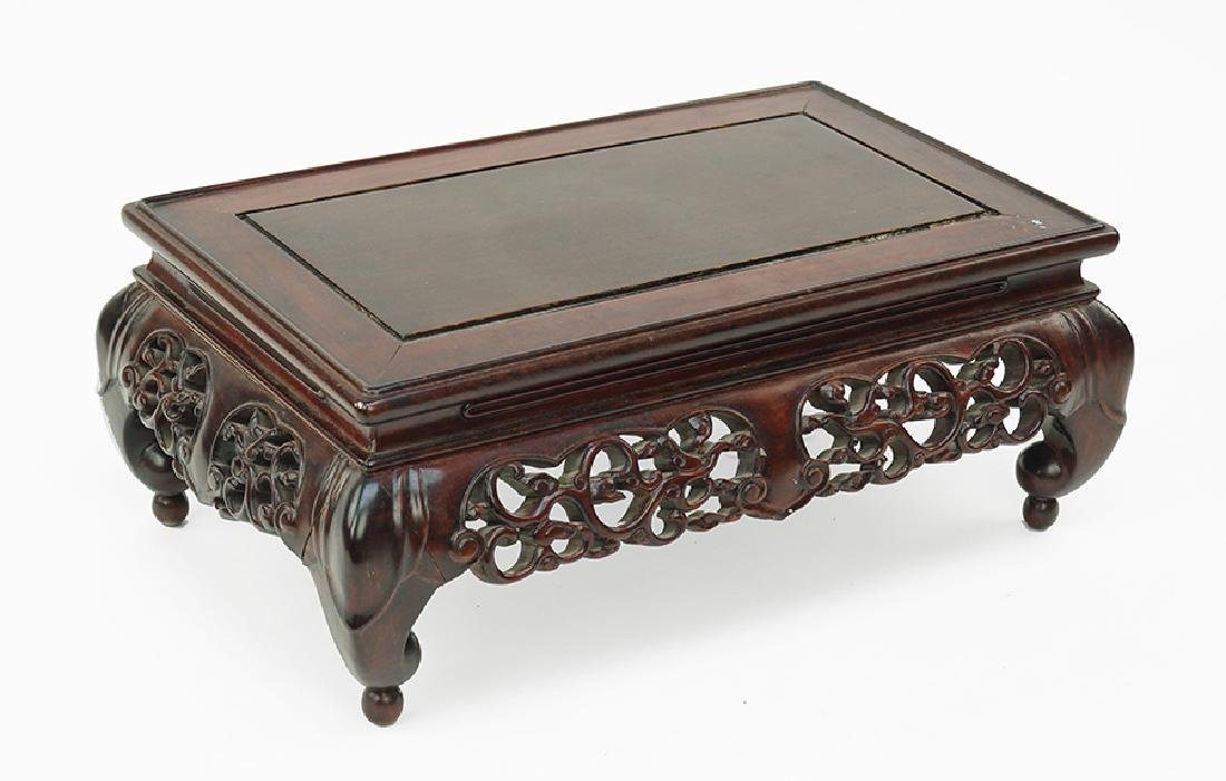 A Chinese Carved Wood Kang Table.