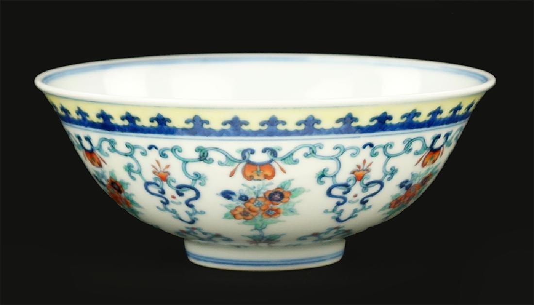 A Chinese Doucai Glazed Porcelain Bowl.