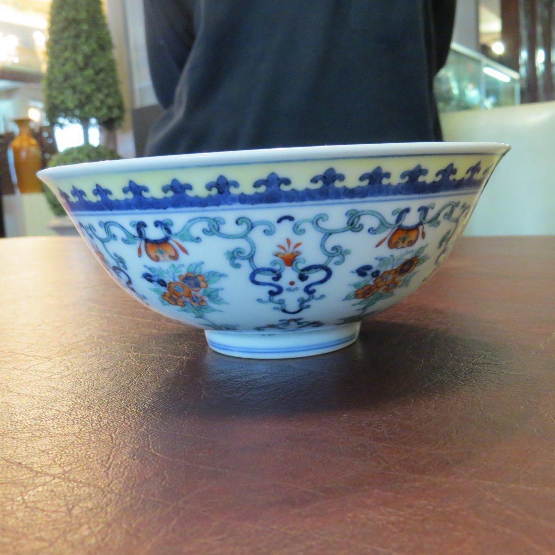 A Chinese Doucai Glazed Porcelain Bowl. - 4