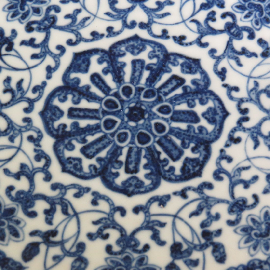 A Chinese Blue and White Porcelain Charger. - 4