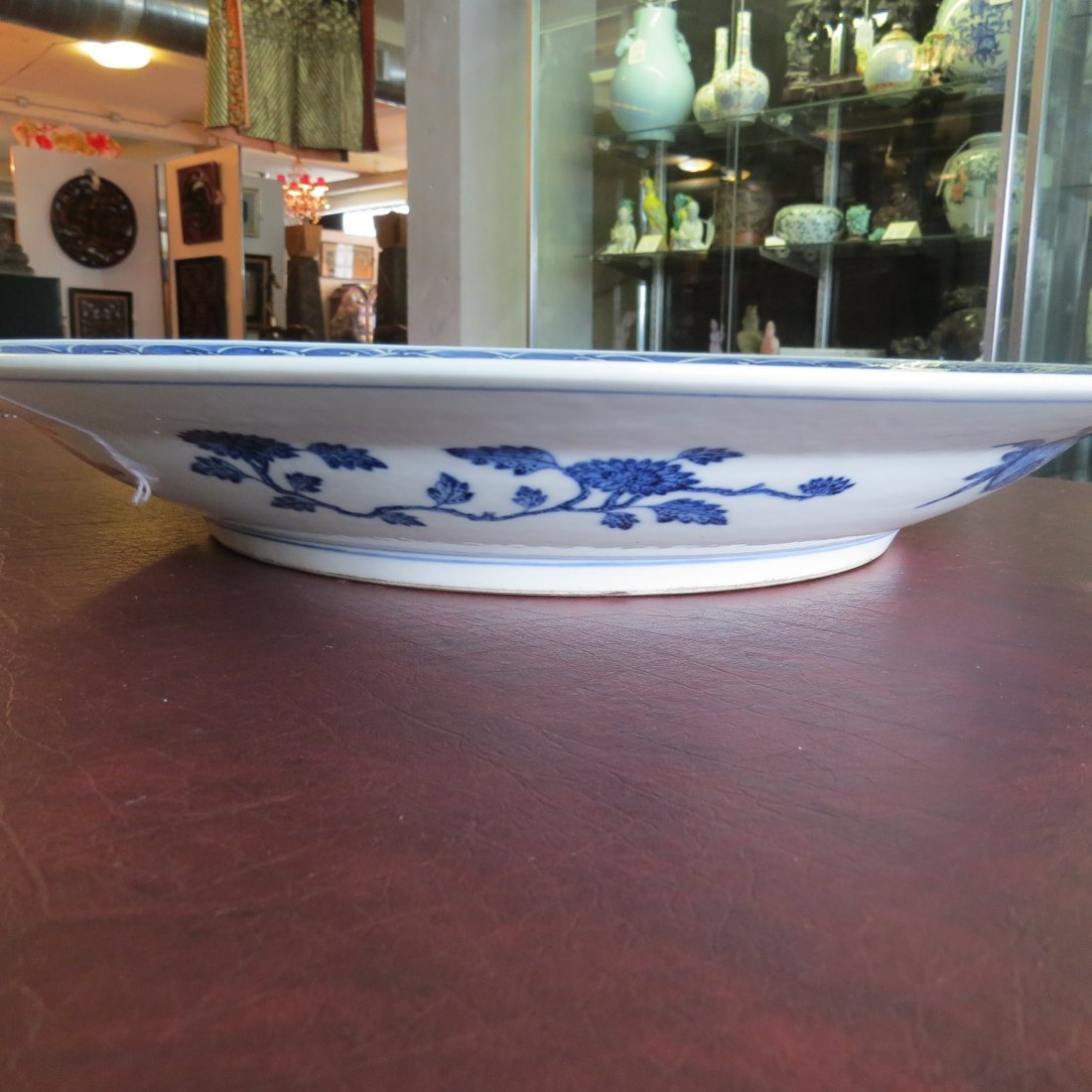 A Chinese Blue and White Porcelain Charger. - 5