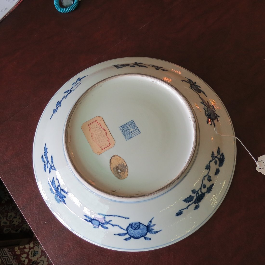 A Chinese Blue and White Porcelain Charger. - 6