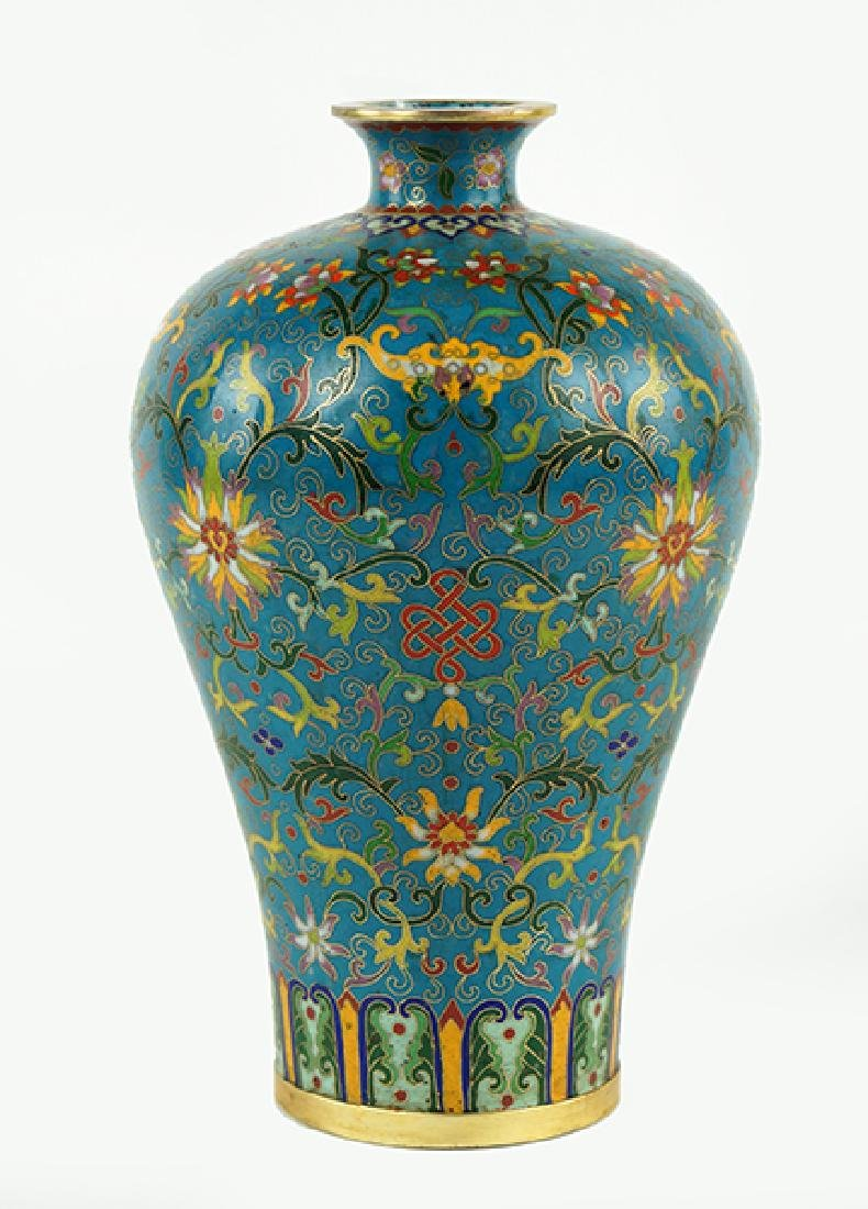 A Chinese Republic Period Cloisonne Meiping Vase.