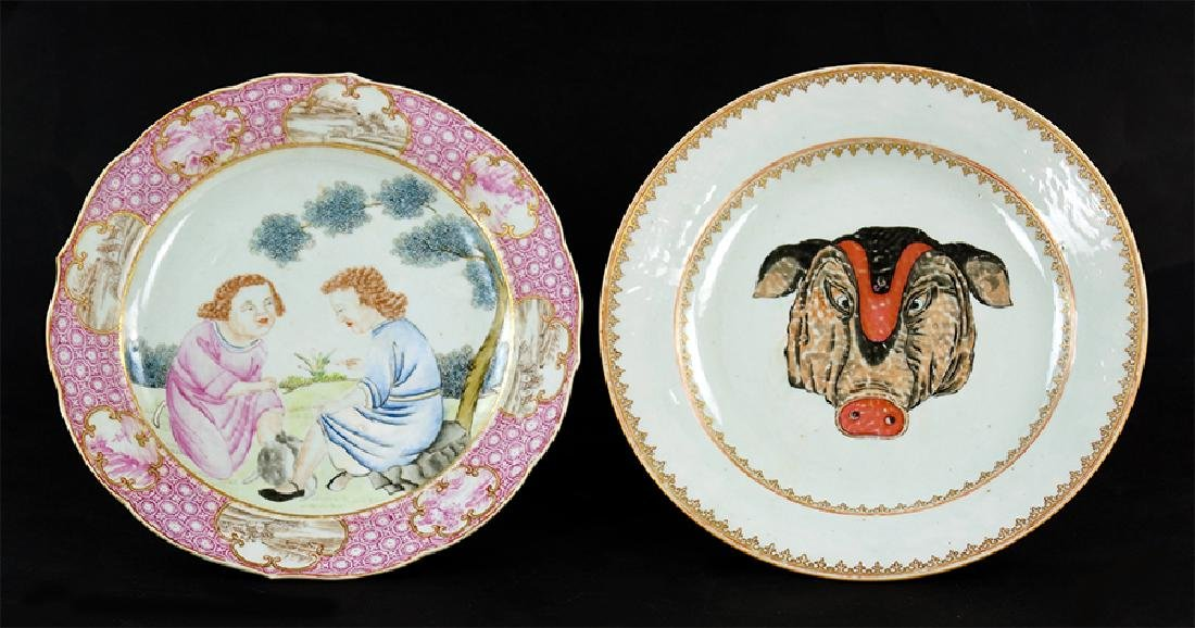 Two Chinese Export Porcelain Plates.