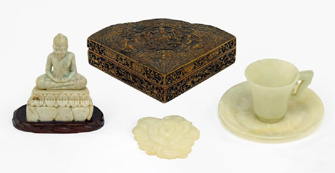 A Collection of Soapstone Carvings.