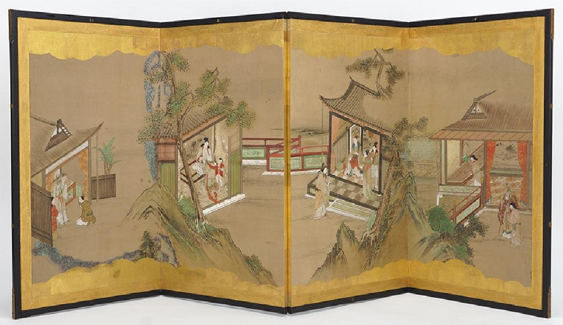 A Chinese Four-Panel Screen.
