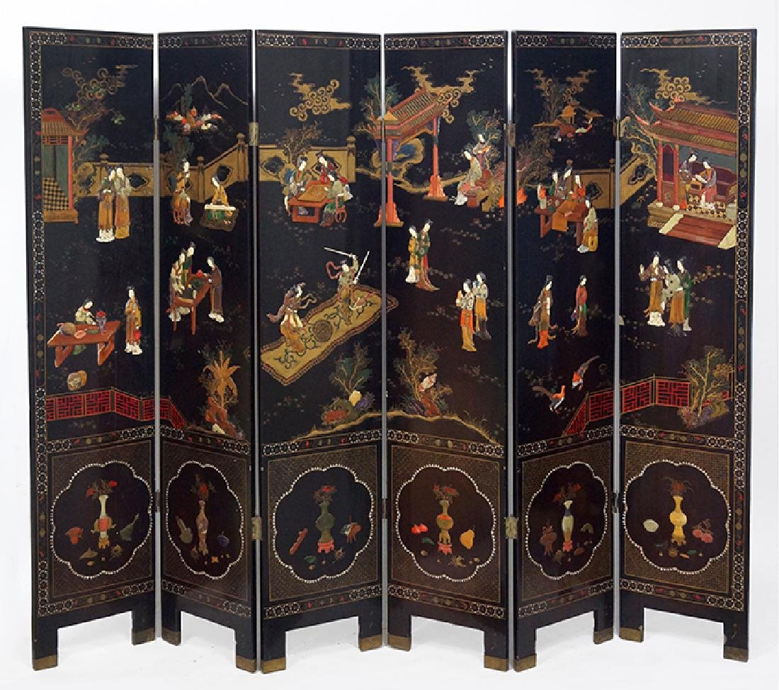 A Chinese Six-Panel Screen.