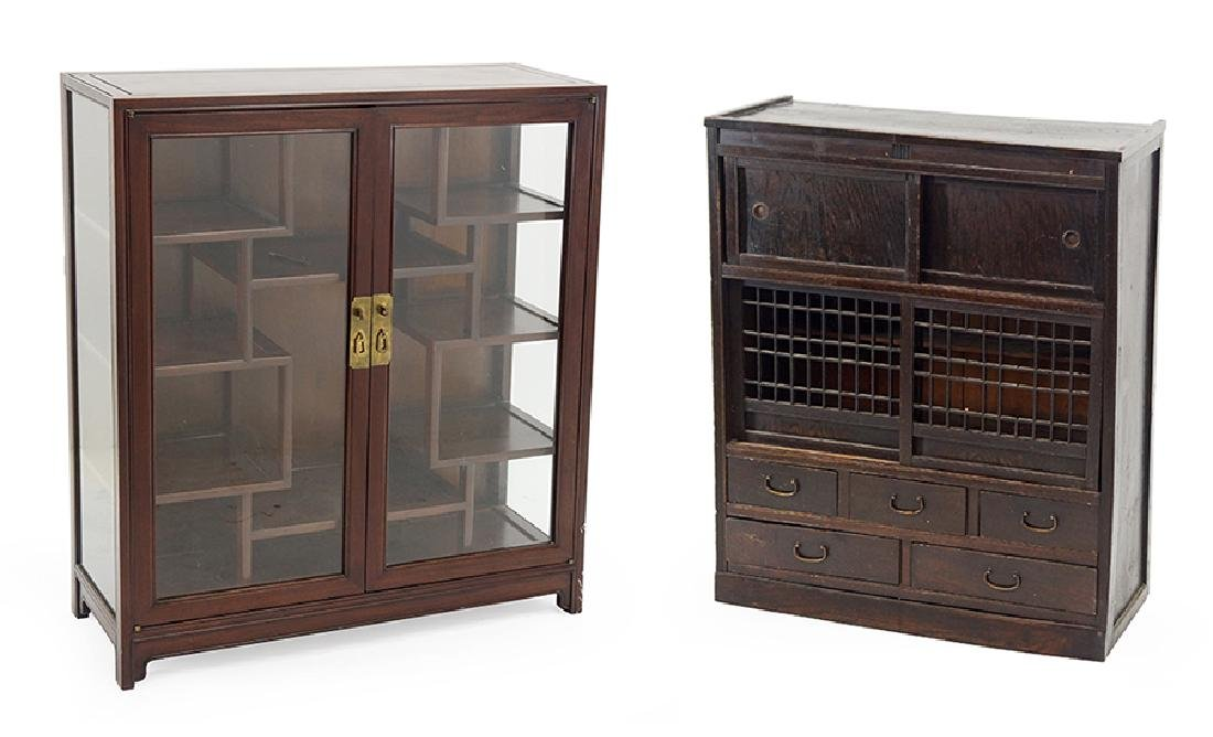 Two Chinese Cabinets.
