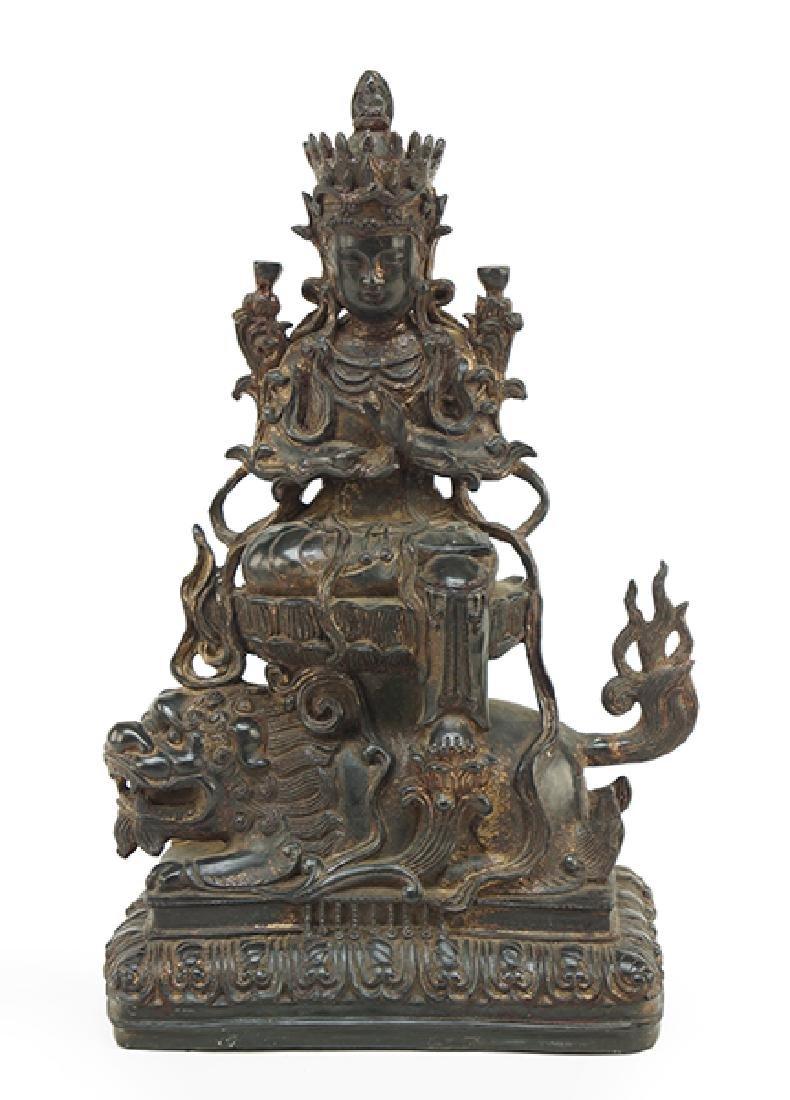 A Chinese Bronze Guan Yin Figure.