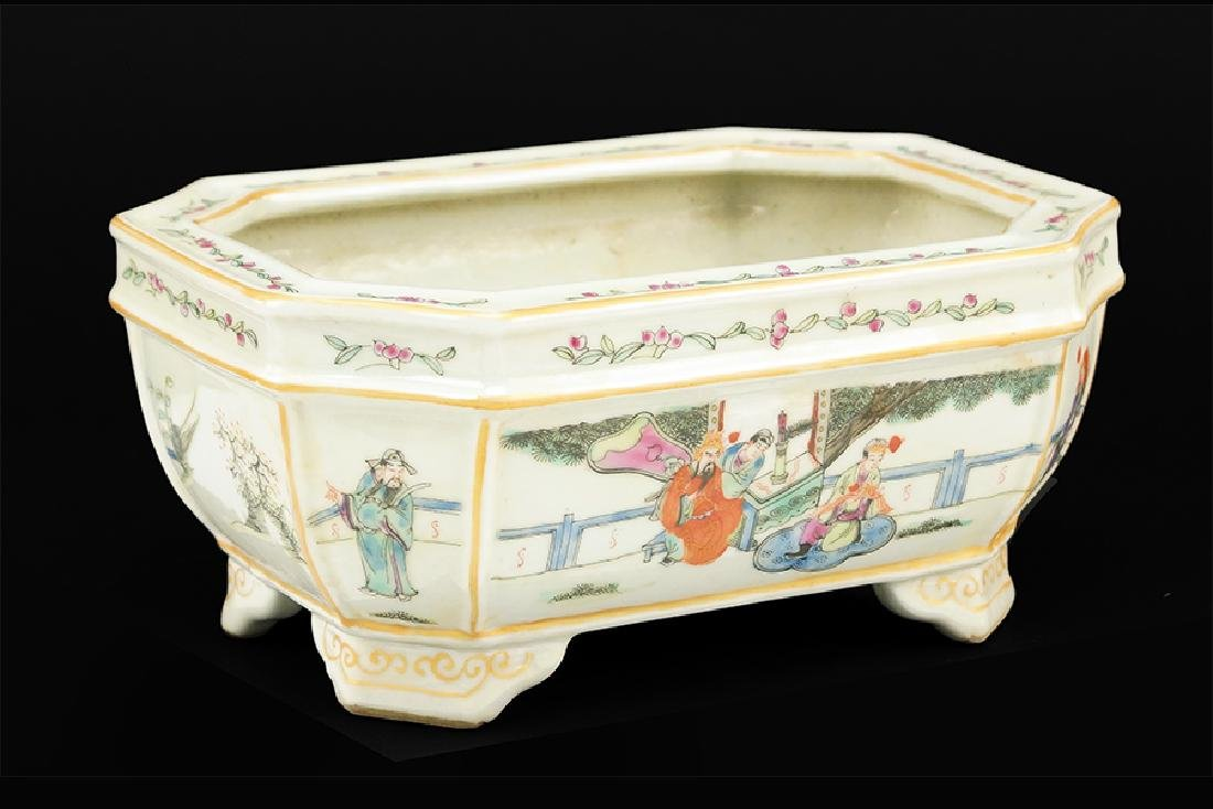 A Chinese Famille Rose Porcelain Jardiniere.