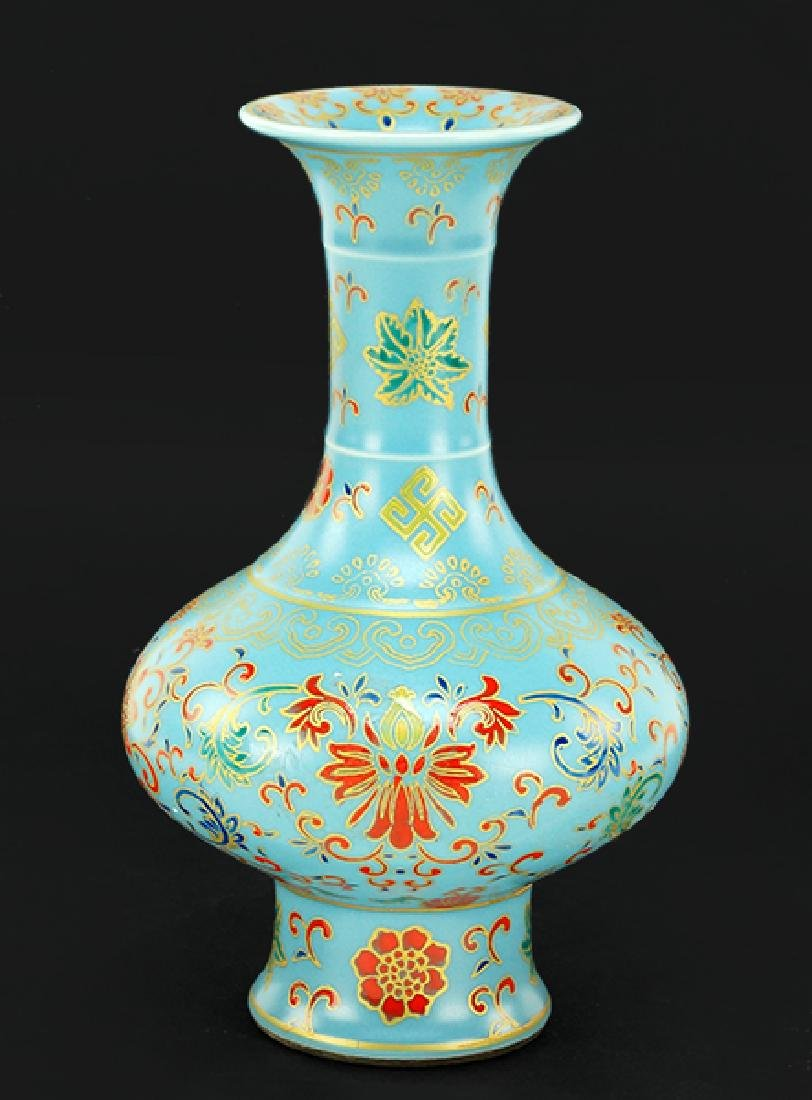 A Chinese Enameled Bottle Vase.