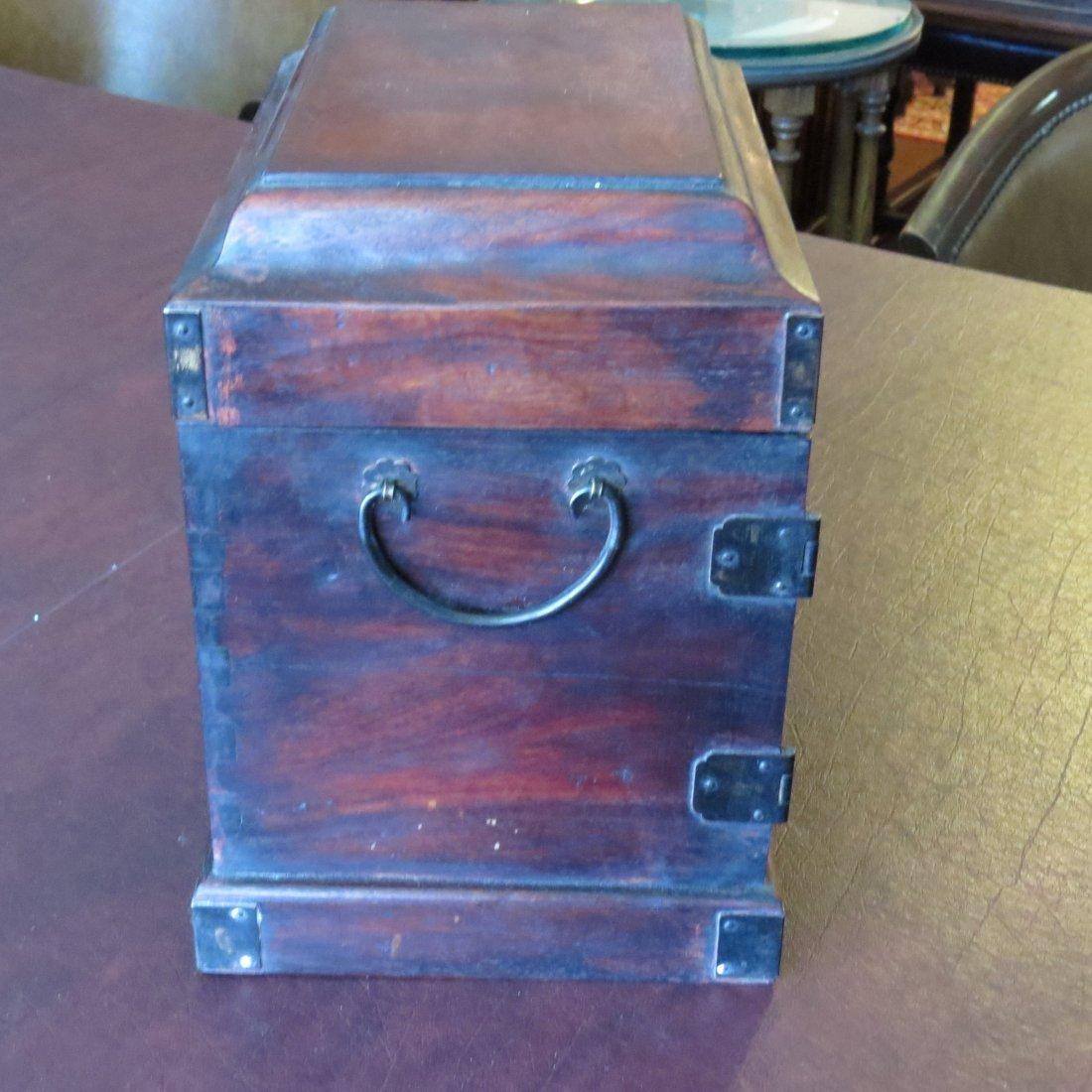A Chinese Burlwood Box. - 10