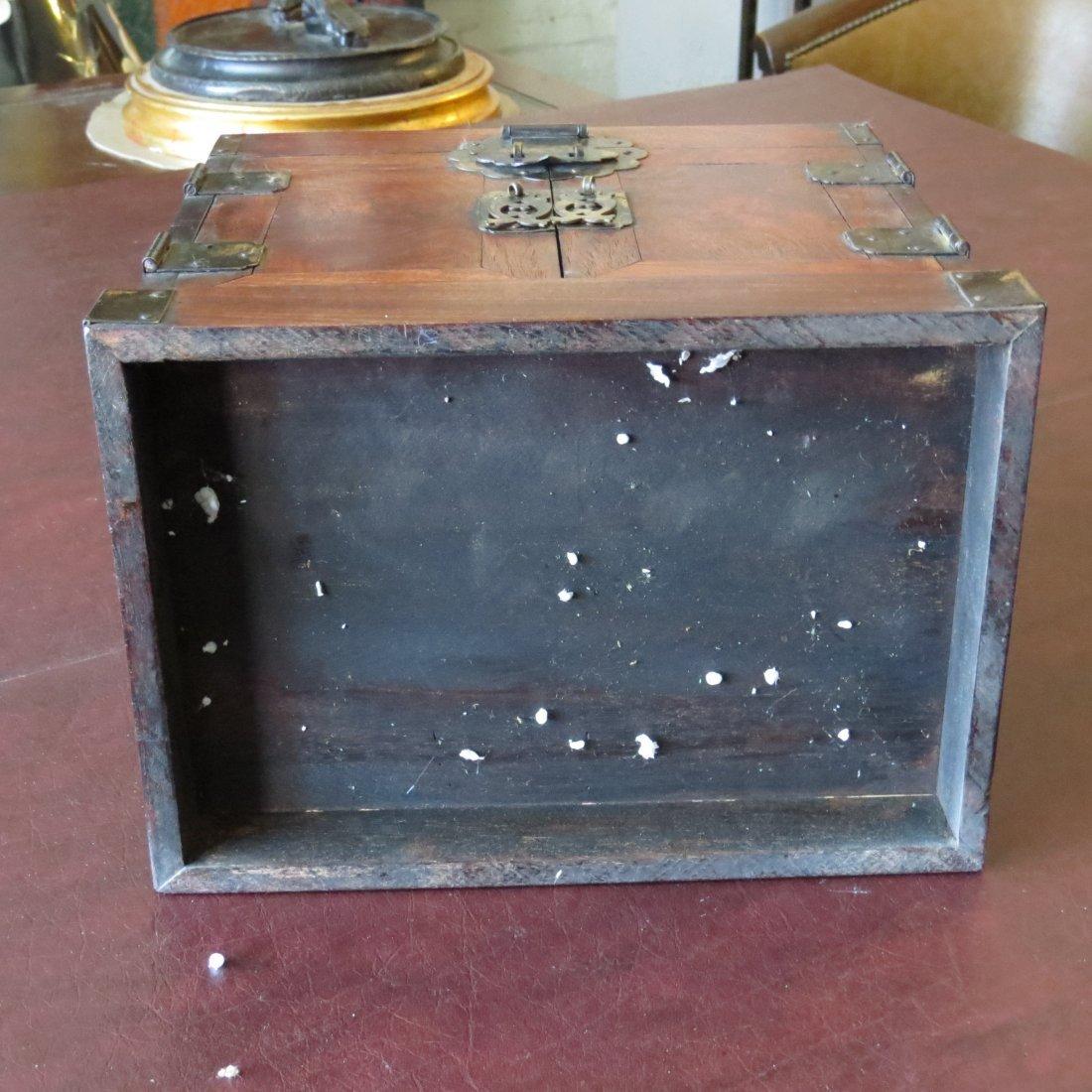 A Chinese Burlwood Box. - 11