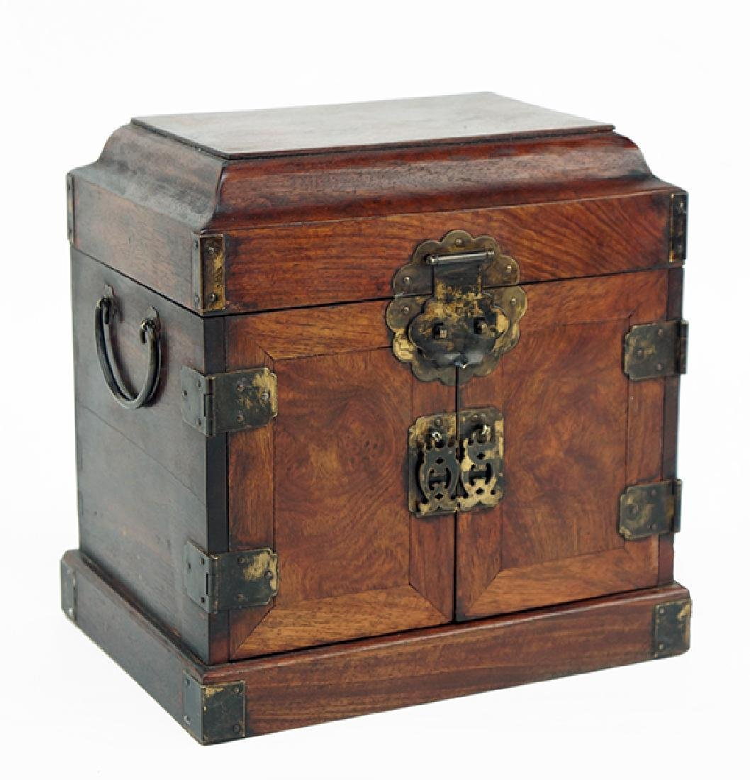 A Chinese Burlwood Box.