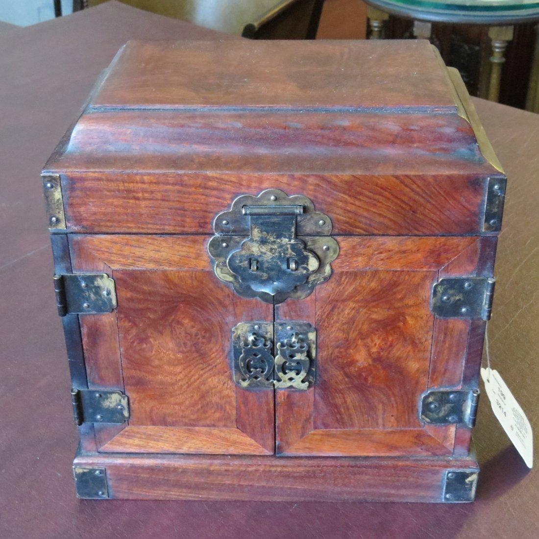 A Chinese Burlwood Box. - 3