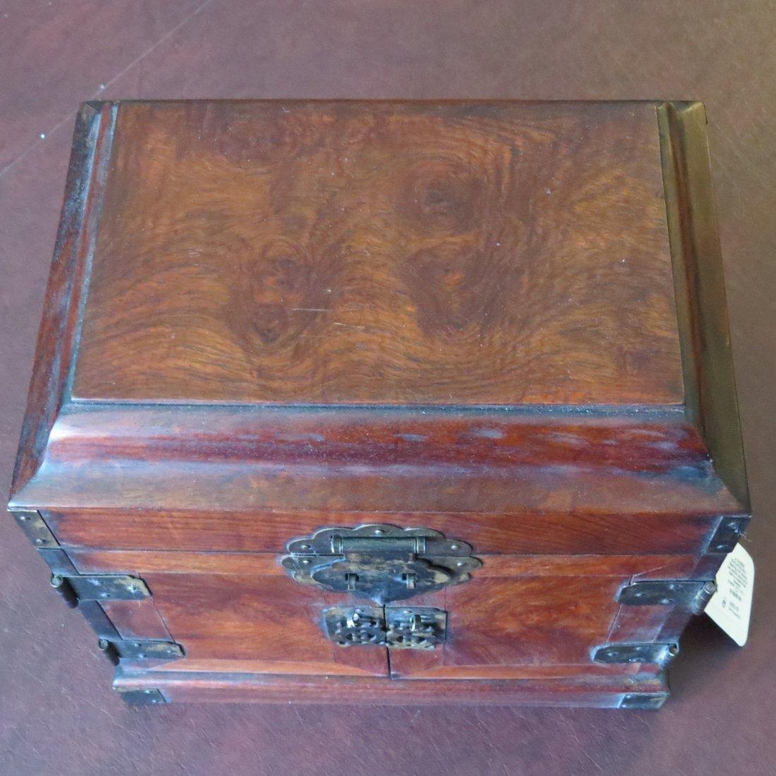 A Chinese Burlwood Box. - 4