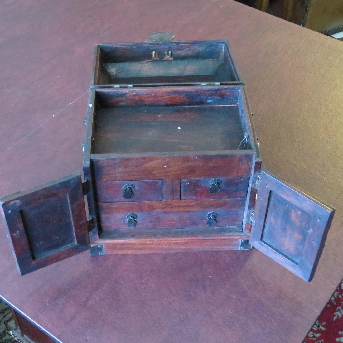 A Chinese Burlwood Box. - 5