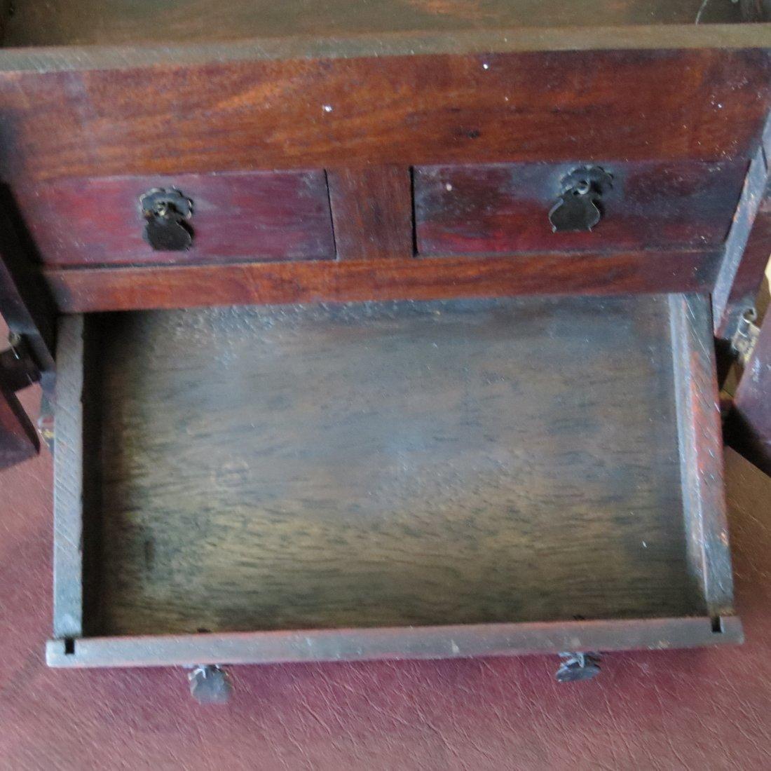 A Chinese Burlwood Box. - 6