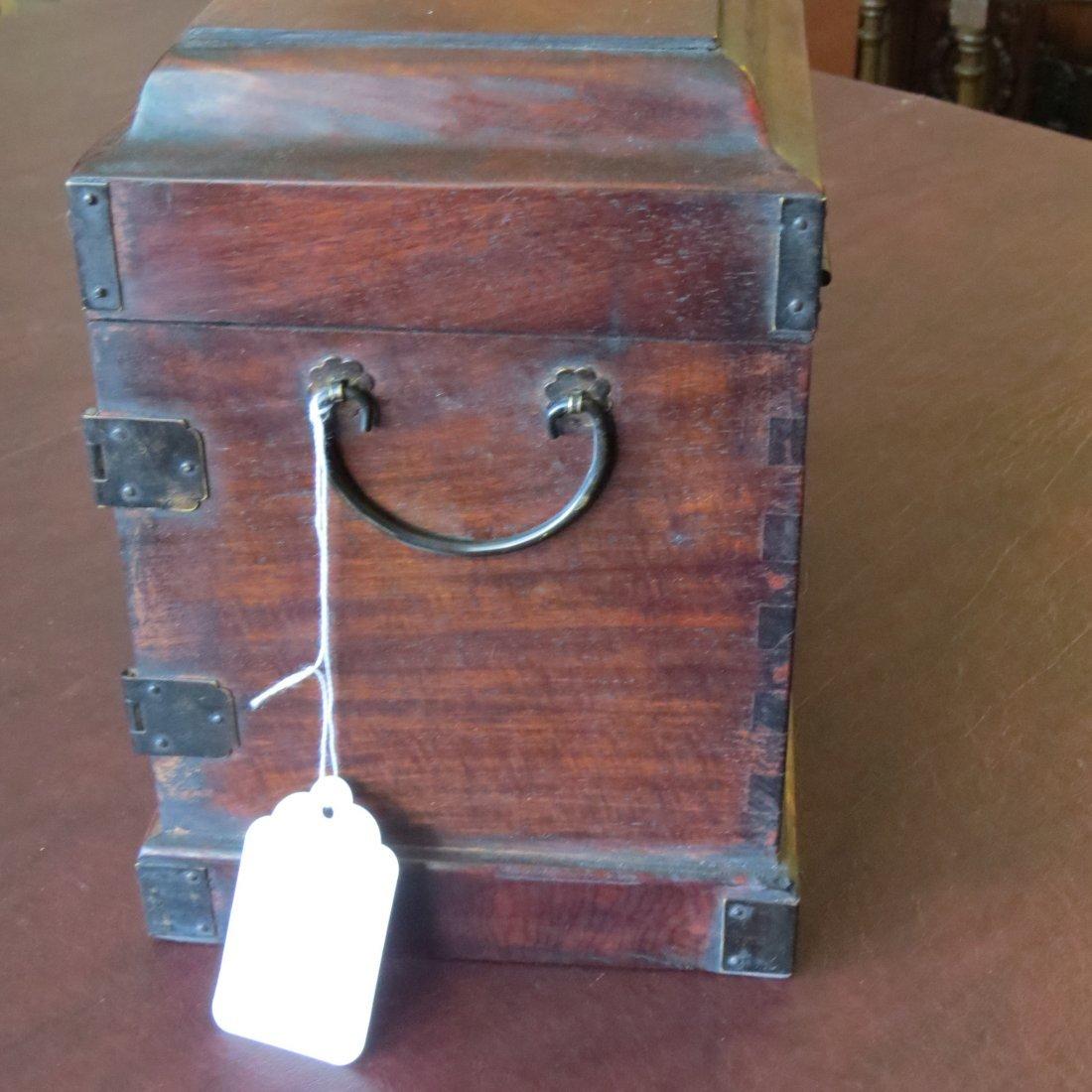 A Chinese Burlwood Box. - 8