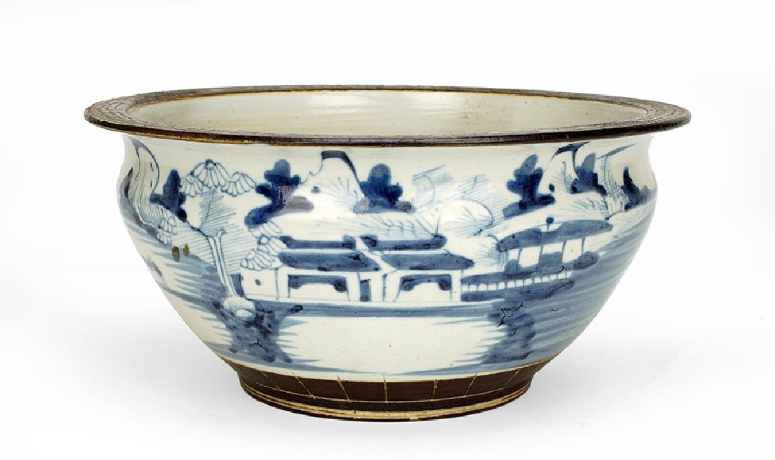 A Chinese Ming Style Blue and White Porcelain Bowl.