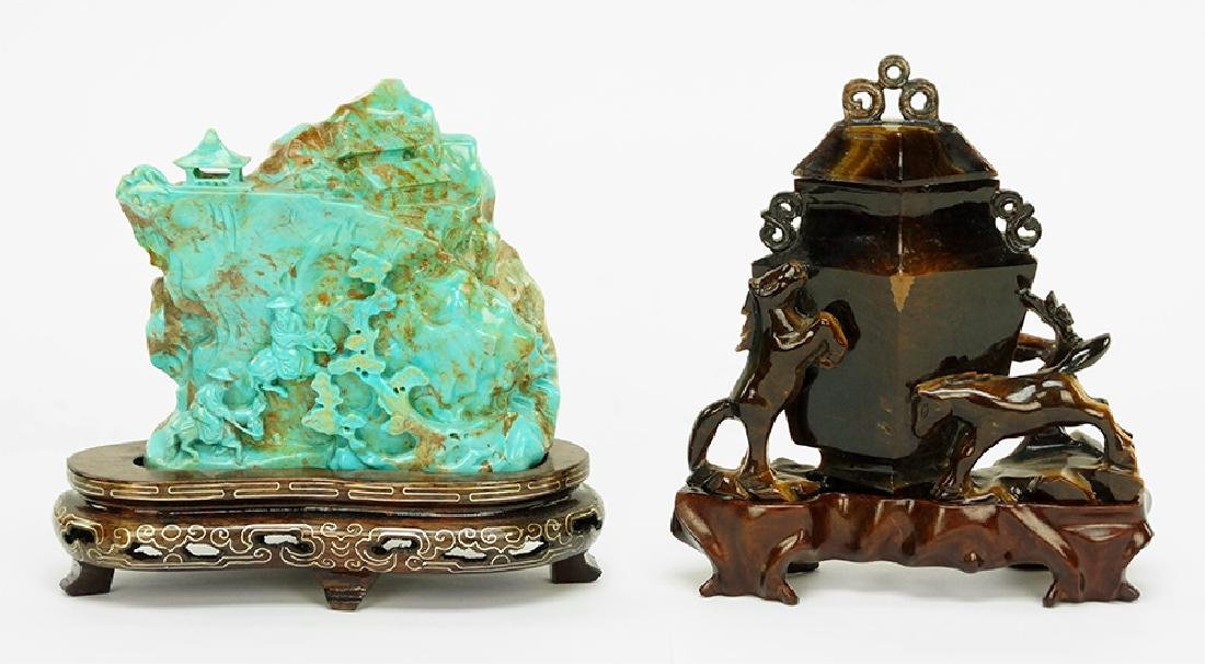 A Chinese Turquoise Composite Scholar's Rock.