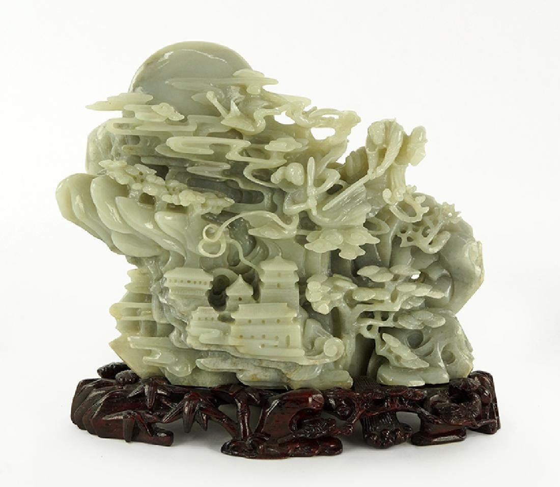 A Chinese Carved Jade Sculpture.
