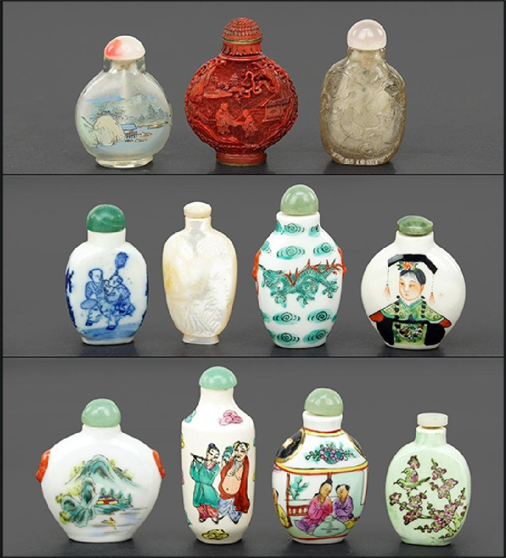 A Collection of Snuff Bottles.