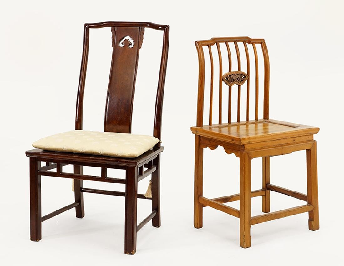 A Chinese Elmwood Side Chair.