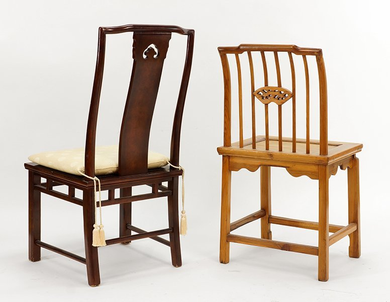 A Chinese Elmwood Side Chair. - 2