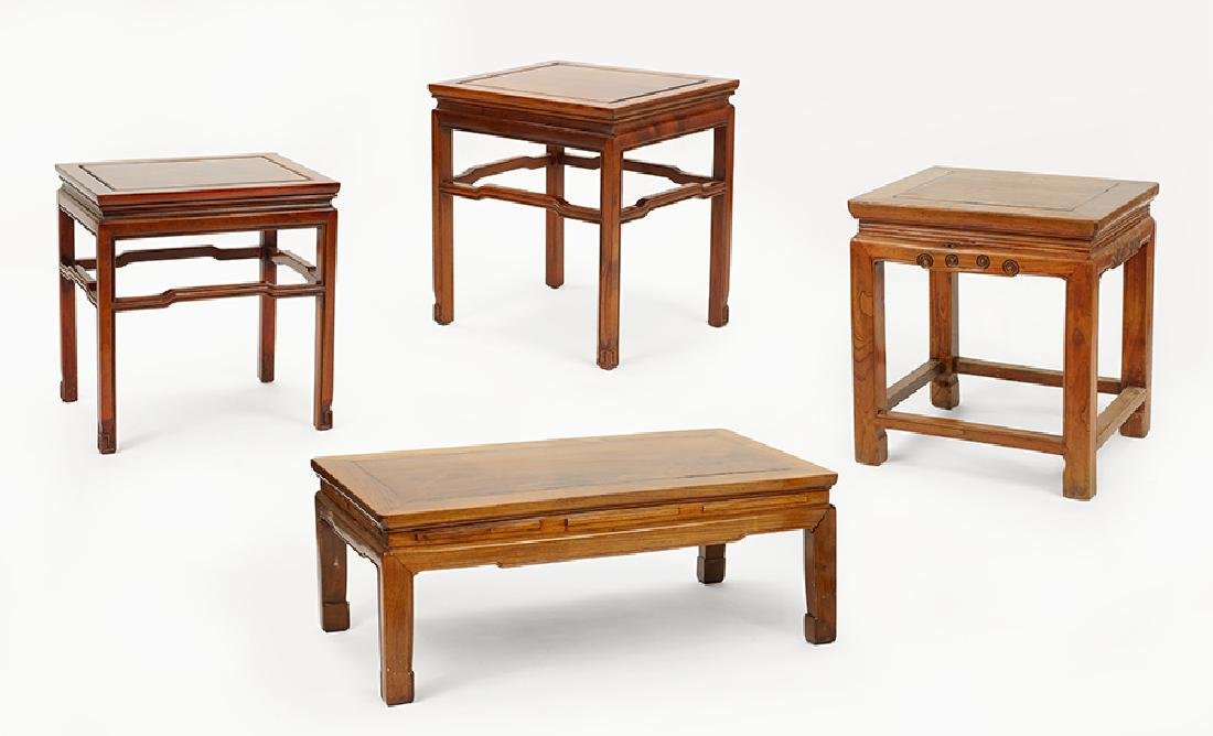 A Pair of Wood Side Tables.