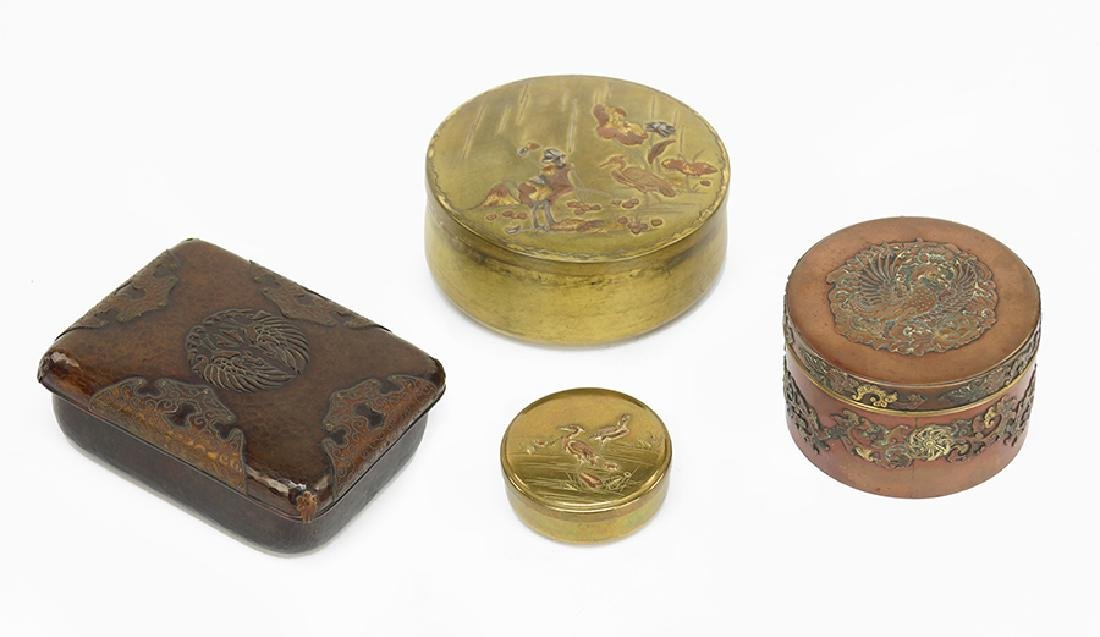 A Collection of Mixed Metal Boxes.